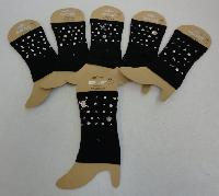 Boot Cuffs [Black with Stud Designs]
